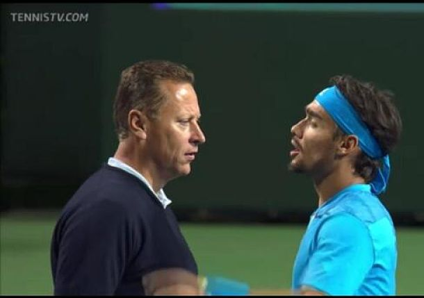 Video: Fabio Fognini Goes Ballistic after Controversial Call at Indian Wells