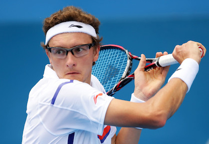 Video: Denis Istomin Falls Down, Still Hits Winner in Tokyo