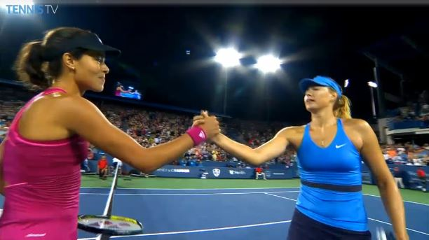 Video: Maria Sharapova Caught Jeering Ivanovic for MTO?