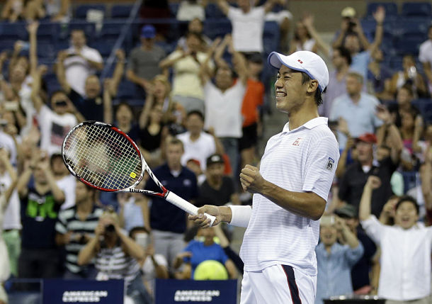 Nishikori Defeats Raonic in Co-Latest US Open Finish