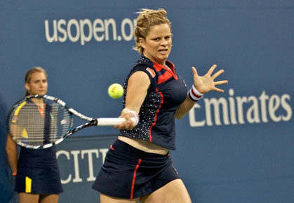 Kim Clijsters' farewell exhibition match versus Venus Williams in Antwerp (Dec 2012)