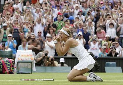 Owning the Moment, Lisicki Bounces Serena Williams from Wimbledon
