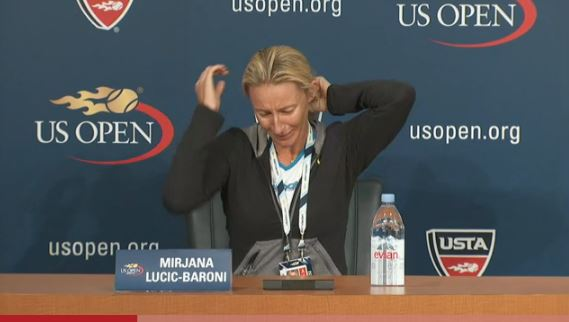 Video: Mirjana Lucic-Baroni Breaks Down in Tears During Presser