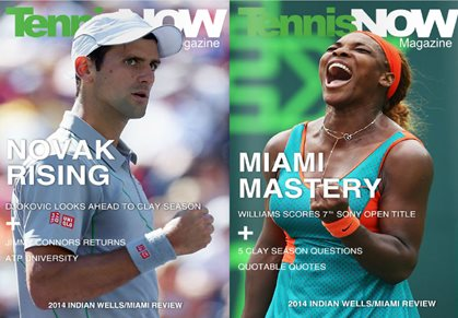 Read the Latest Issue of Tennis Now Magazine