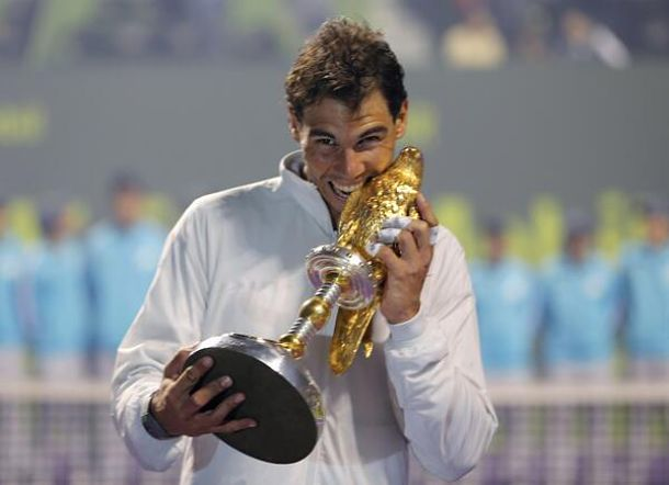 Nadal Outlasts Monfils for First Doha Title
