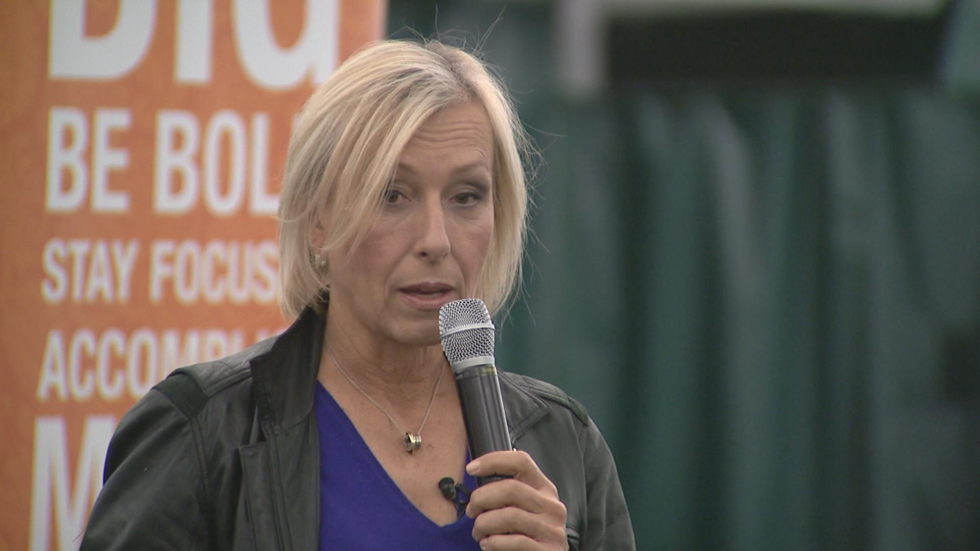 Martina Navratilova Slams IOC, World Cup