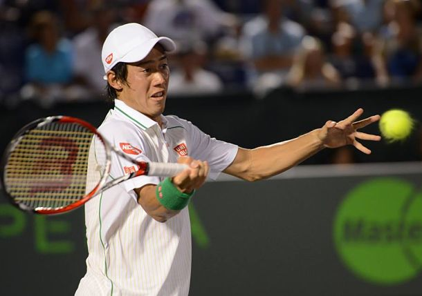 Nishikori Saves Four Match Points to Stun Ferrer in Miami