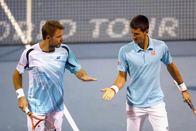 Novak Djokovic and Stan Wawrinka