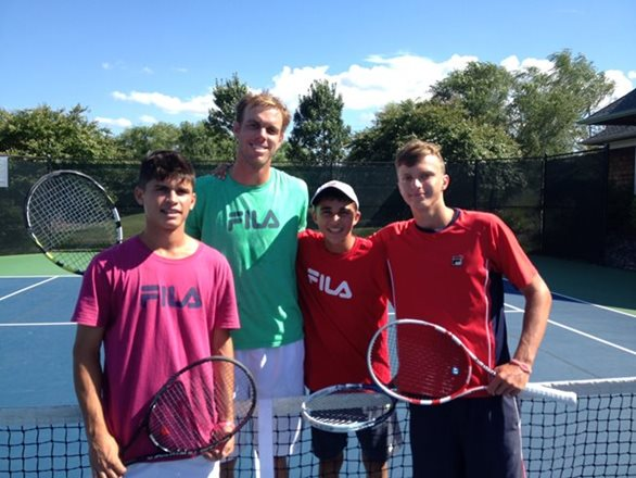 Sam Querrey Visits Junior Tennis Champions Center