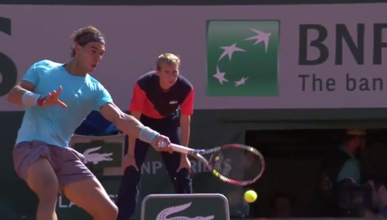 Video: Nadal Bends a Forehand Using Magical Powers