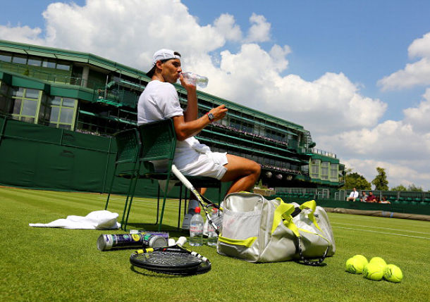 "Nadal Practicing ""More than Usual"" Ahead of Wimbledon"