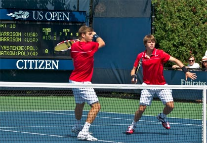 Ryan and Christian Harrison play US Open doubles