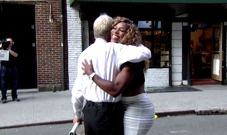 Video: Serena Williams Smashes a Window on David Letterman