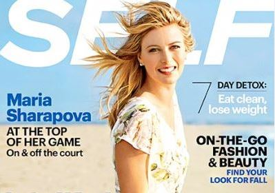 Maria Sharapova Graces Self Magazine's September Cover