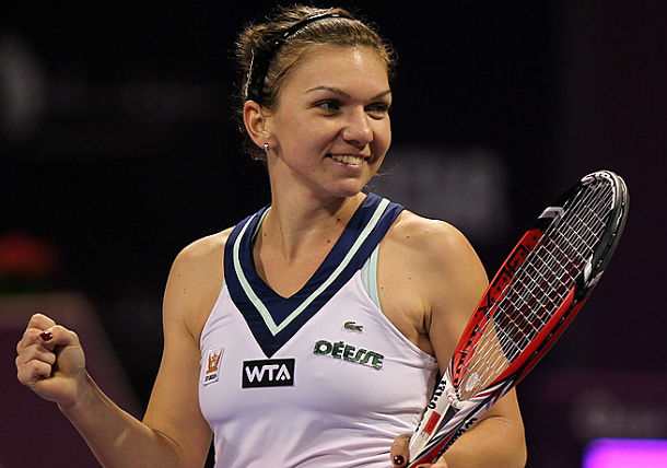 Rising Halep Takes Out Kerber for Doha Title