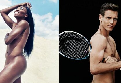 Tomas Berdych and Venus Williams Pose for ESPN's Body Issue