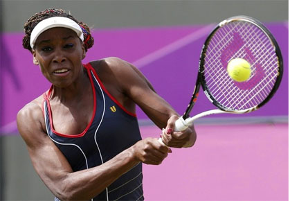 Venus Williams plays in the London Olympics