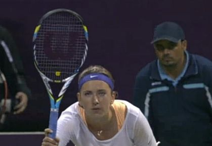 Azarenka, Making Serena Wait