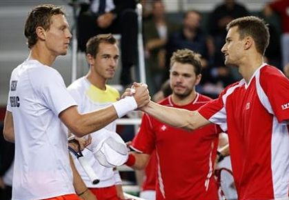 Berdych and Wawrinka, Davis Cup 2013