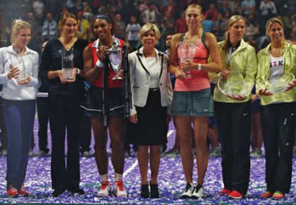 Winners at the 2012 WTA Championships in Istanbul