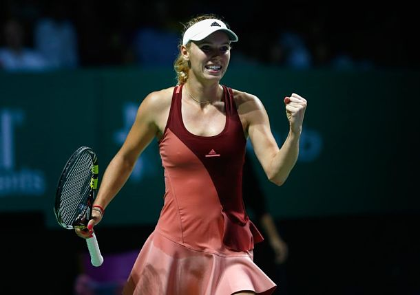 Wozniacki Rises to Top of Table after Downing Radwanska