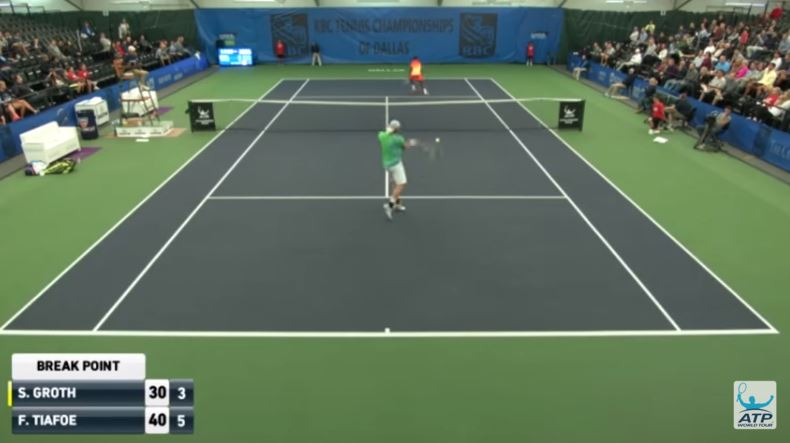Video: American Tiafoe gets cheeky at Dallas Challenger