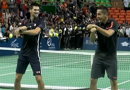 VIDEO: Djokovic Dances, Petrova's Coach's F-Bomb, etc.