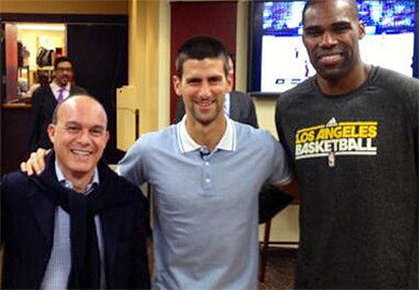 ATP World Tour Uncovered - Novak Djokovic LA Lakers