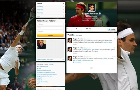 Federer Joins Twitter, Djokovic Draws Nadal, Blacklight Tennis