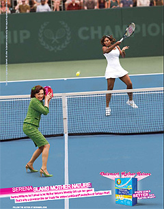 Serena Williams in Tampax Commercial