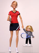 Clijsters becomes a Barbie Doll