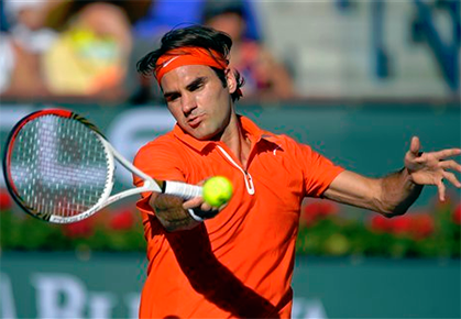 Indian Wells Monday Hot Shot Federer's Great Reflexes
