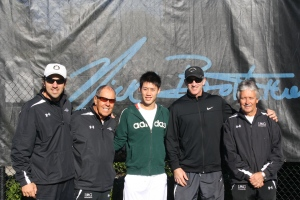 Kei Nishikori and world renowned tennis coach Brad Gilbert form team