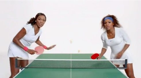 Serena and Venus Play Doubles Ping Pong in New iPhone 5 Commercial