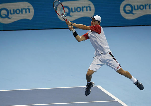 In Clumsy London Opener, Nishikori Upends Murray