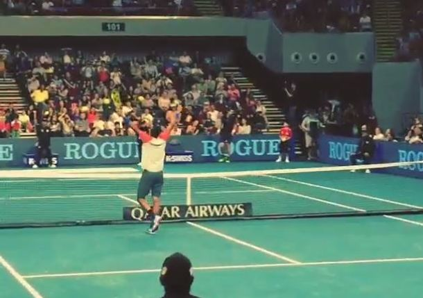 Video: A Kyrgios 'Tweener Raises the Roof in Manila During IPTL Match