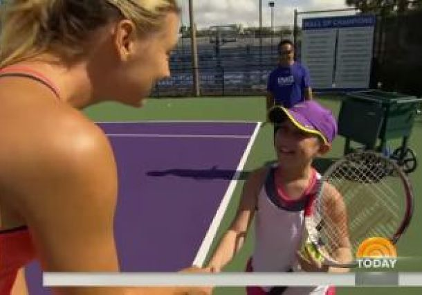 Video: Maria Sharapova Pays Visit to Cancer Survivor at IMG Academy