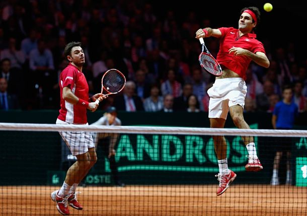 Federer and Wawrinka Put Switzerland on the Cusp of Davis Cup Title