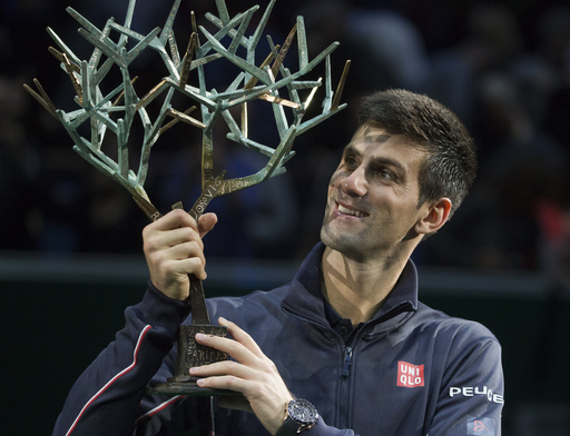 Djokovic Records Rare Title Repeat at Paris Masters