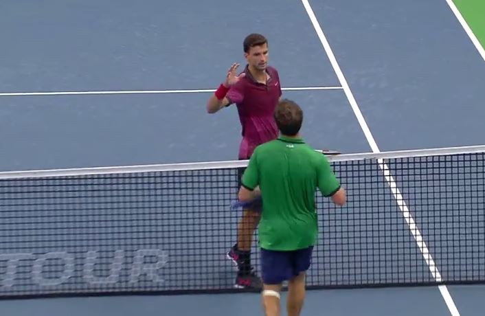 Videos: Dimitrov Hits Match Point Hot Shot in Stockholm