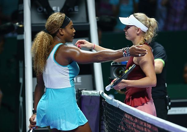 Williams Sets Halep Rematch with Comeback Win over Wozniacki