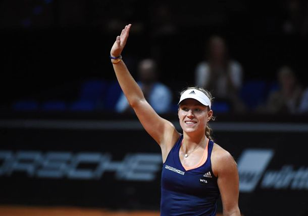 Kerber Hands Sharapova a Shock in Stuttgart