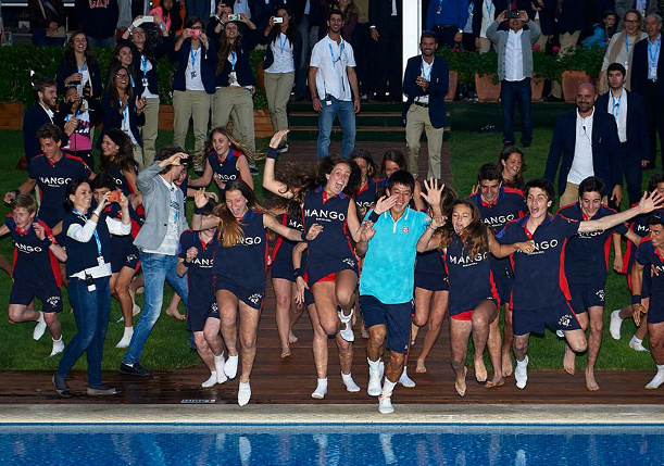 Video: Kei Nishikori's Pool Party in Barcelona