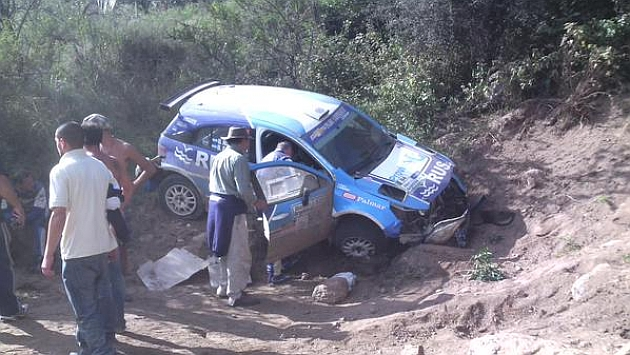 David Nalbandian Crashes out of Rally Argentina (Literally)