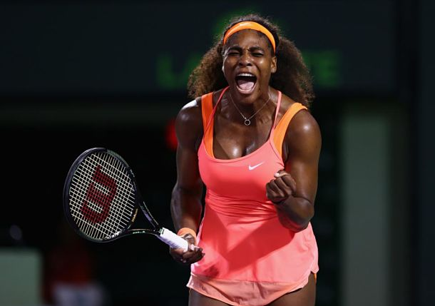 After Fierce Battle, Williams Prevails over Halep in Miami