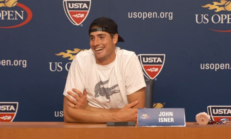 Wozniacki Bombs Isner's Press Conference in New York