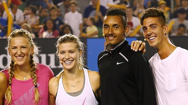 Bouchard Says Mixed Doubles Partner Kyrgios is Good for the Game