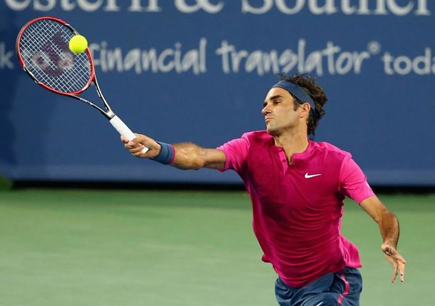 Federer Takes Down Bautista Agut in Cincy Opener