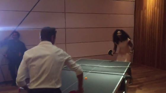 Serena Williams, Stanimal Battle for Ping-Pong Bragging Rights