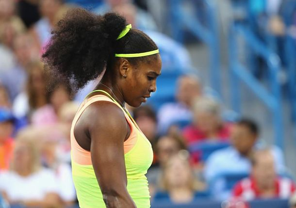 Serving Woes Hinder, Don't Derail Serena Williams in Cincinnati Semis